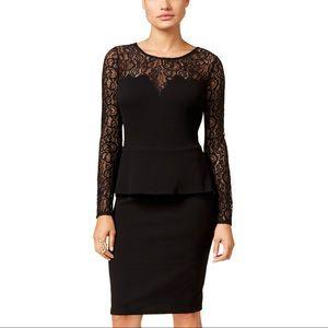 BNWT black lace peplum dress